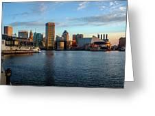 Baltimore Inner Harbor Sunrise Greeting Card