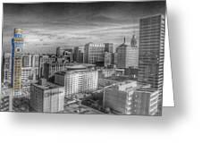 Baltimore Landscape - Bromo Seltzer Arts Tower Greeting Card