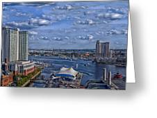 Baltimore Maryland Inner Harbor Greeting Card