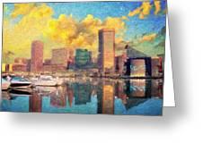 Baltimore Maryland Skyline Greeting Card