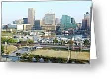 Baltimore's Inner Harbor Greeting Card