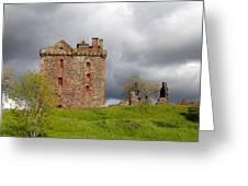 Balvaird Castle Ruins Scotland Greeting Card