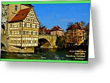 Bamberg Townhall - Germany H A Greeting Card