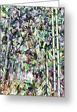 Bamboo Background In Nature Greeting Card