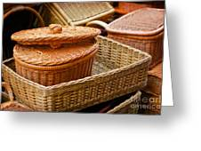 Bamboo Baskets Greeting Card