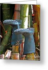 Bamboo Boots Greeting Card