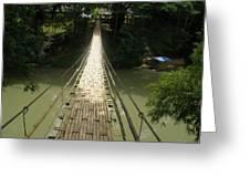 Bamboo Bridge Greeting Card
