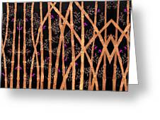 Bamboo Forest At Night Greeting Card