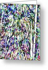 Bamboo Forest Background Greeting Card