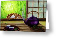 Bamboo Morning Tea Greeting Card