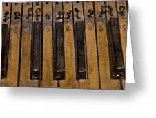 Bamboo Organ Keys Greeting Card