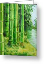 Bamboos By The River Greeting Card
