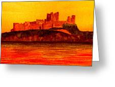 Bamburgh Castle Greeting Card