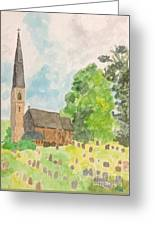 Bamford Church And Serenity Of Nature Greeting Card