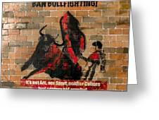 Ban Bullfighting Greeting Card