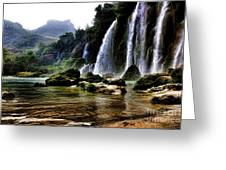 Ban Gioc Vietnam's Most Beautiful Waterfall  Greeting Card