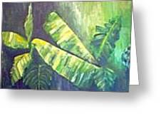 Banan Leaf Greeting Card by Carol P Kingsley