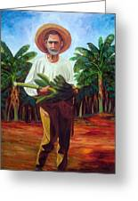 Banana Farmer Greeting Card