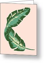 Banana Leaf Square Print Greeting Card
