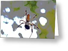 Banana Spider Lunch Time 1 Greeting Card