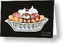 Banana Split Greeting Card