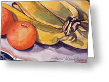 Bananas And Blood Oranges Still-life Greeting Card
