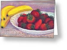 Bananas And Strawberries Greeting Card