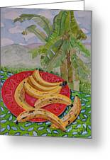 Bananas On A Plate Greeting Card