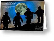 Band Of Brothers - Oil Greeting Card
