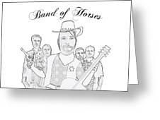 Band Of Horses Greeting Card