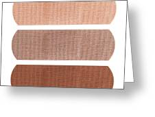 Bandages In Different Skin Colors Greeting Card