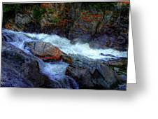 Banded Rock At Livermore Greeting Card