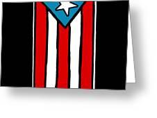 Bandera De Puerto Rico Greeting Card