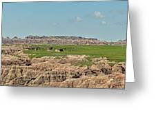 Badlands Panorama Greeting Card