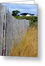 Bandon Beach Fence Greeting Card