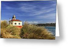 Bandon Coquille River Lighthouse Greeting Card