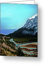 Banff Alberta Rocky Mountain View Greeting Card