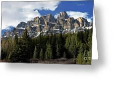 Banff - Castle Mountain Greeting Card
