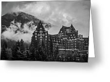 Banff Fairmont Springs Hotel Greeting Card