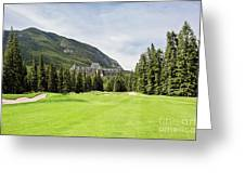 Banff Springs Golf And The Castle Greeting Card