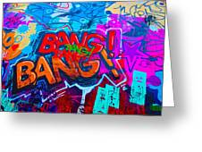Bang Graffiti Nyc 2014 Greeting Card