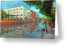 Bangkok Reflections Greeting Card