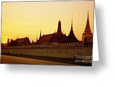Bangkok Royal Palace Complex Greeting Card