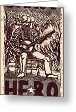 Banjo Hero Greeting Card by Mathew Luebbert