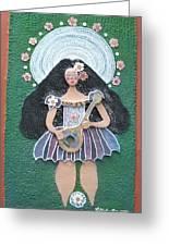 Banjo Lady Greeting Card