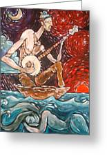 Banjo Sailor Greeting Card