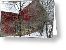 Bank Barn Greeting Card