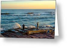 Bank Fishing Greeting Card