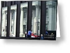 Bank Of Montreal Reflection Greeting Card