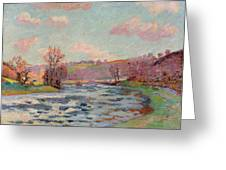 Banks Of The Creuse Greeting Card by Jean Baptiste Armand Guillaumin